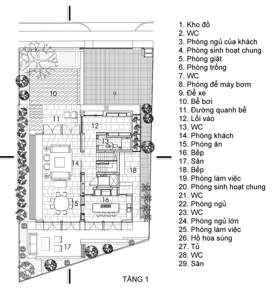 Ngôi nhà với hồ hoa súng lãng mạn ở ban công