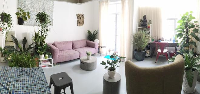 1 1 1450695755 660x0 Thiết kế không gian xanh mướt trong căn hộ 45 m2 ở Sài Gòn