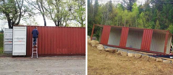 Không gian tiện nghi trong ngôi nhà container 2 tầng