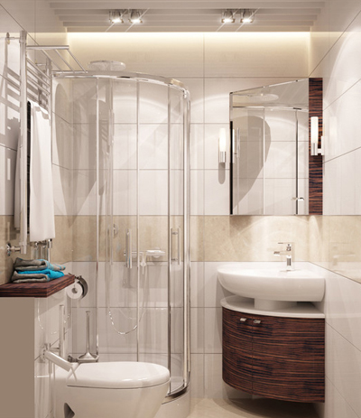 WC nhỏ nhưng bố trí hợp lý nên đem lại sự thoải mái cho người dùng.