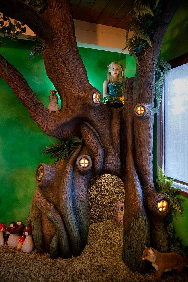 Ông bố dành 18 tháng biến phòng ngủ con gái thành nhà cây cổ tích