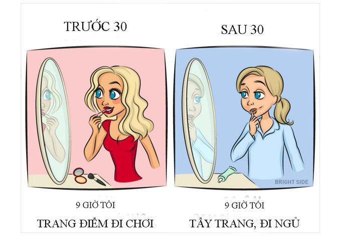 Cuộc sống khác biệt của phụ nữ trước và sau tuổi 30