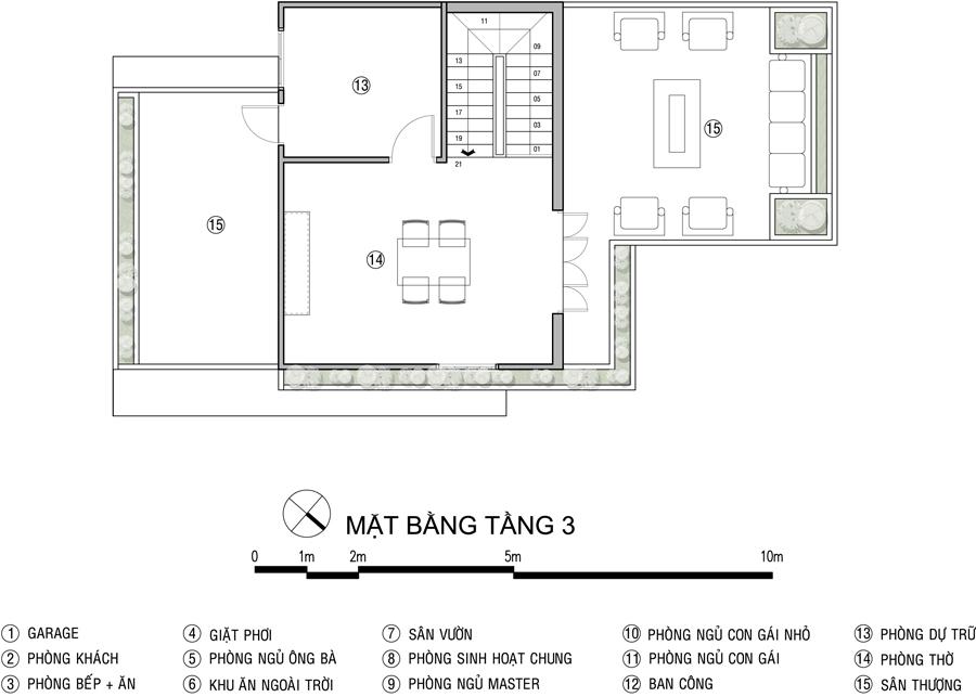 Biệt thự ở Nha Trang tận dụng nhiều nội thất cũ