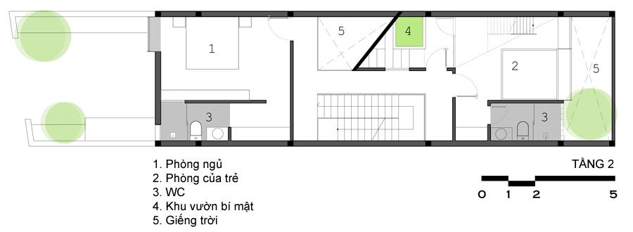 Những góc vườn bí mật trong nhà ống 85 m2