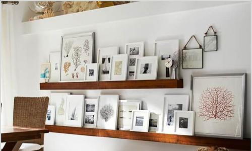 Cách đơn giản để bày nhiều ảnh trên tường