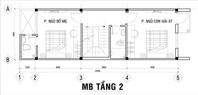 2 1462332835 660x0 Chia sẻ cách thiết kế đơn giản cho nhà ống 3 tầng có bề ngang 4m