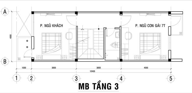 3 1462332835 660x0 Chia sẻ cách thiết kế đơn giản cho nhà ống 3 tầng có bề ngang 4m