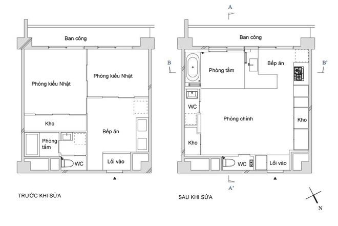 Căn hộ 40 m2 bí bách được cải tạo thành tràn ánh sáng