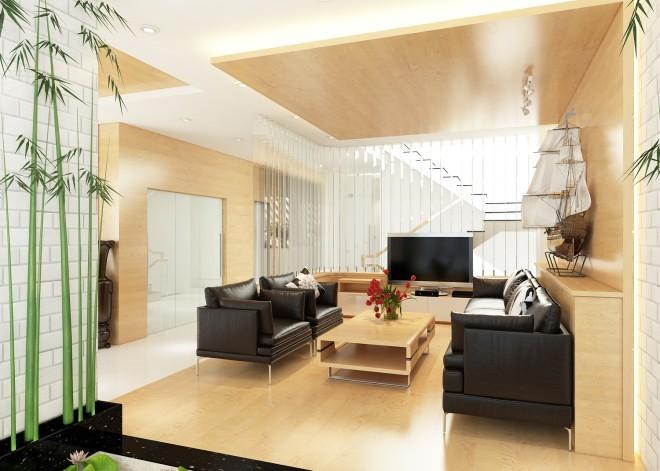 Thiết kế hiện đại cho nhà 3 tầng kết hợp văn phòng