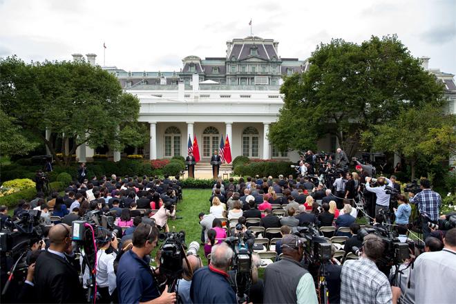 Vườn Hồng nổi tiếng trong nơi ở của gia đình Obama