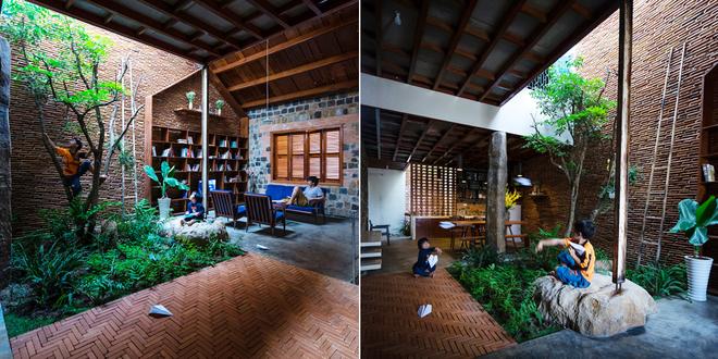 Cảnh đồng quê trong ngôi nhà hiện đại bố xây cho 2 con