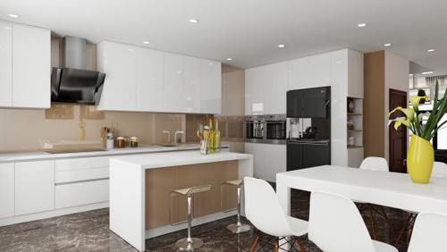 Cách sắp xếp tối ưu cho không gian bếp hiện đại