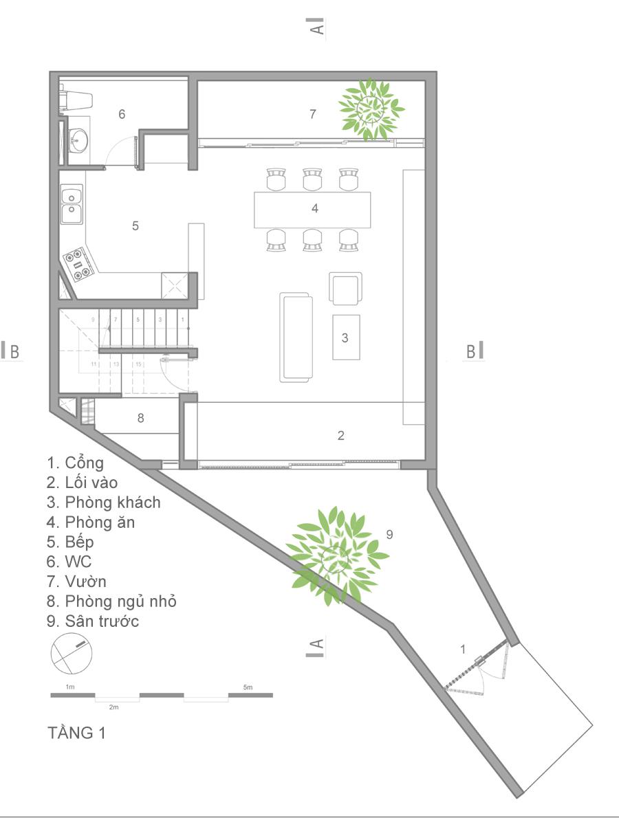 mat bang 1 1473914084 680x0 - Mảnh đất méo hoá ngôi nhà sang trọng trong hẻm Sài Gòn