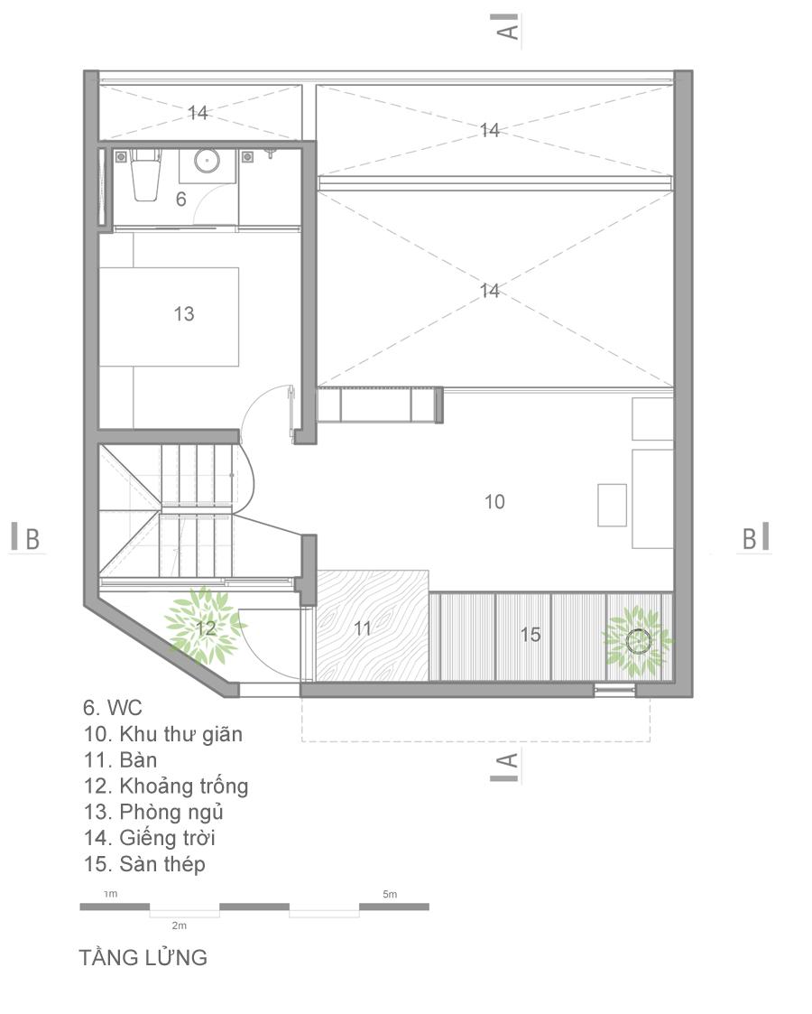 mat bang 2 1473914085 680x0 - Mảnh đất méo hoá ngôi nhà sang trọng trong hẻm Sài Gòn