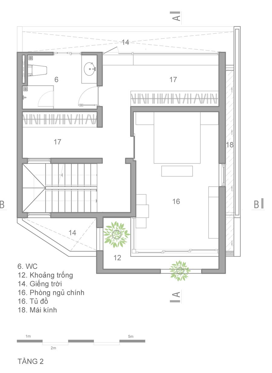 mat bang 3 1473914085 680x0 - Mảnh đất méo hoá ngôi nhà sang trọng trong hẻm Sài Gòn