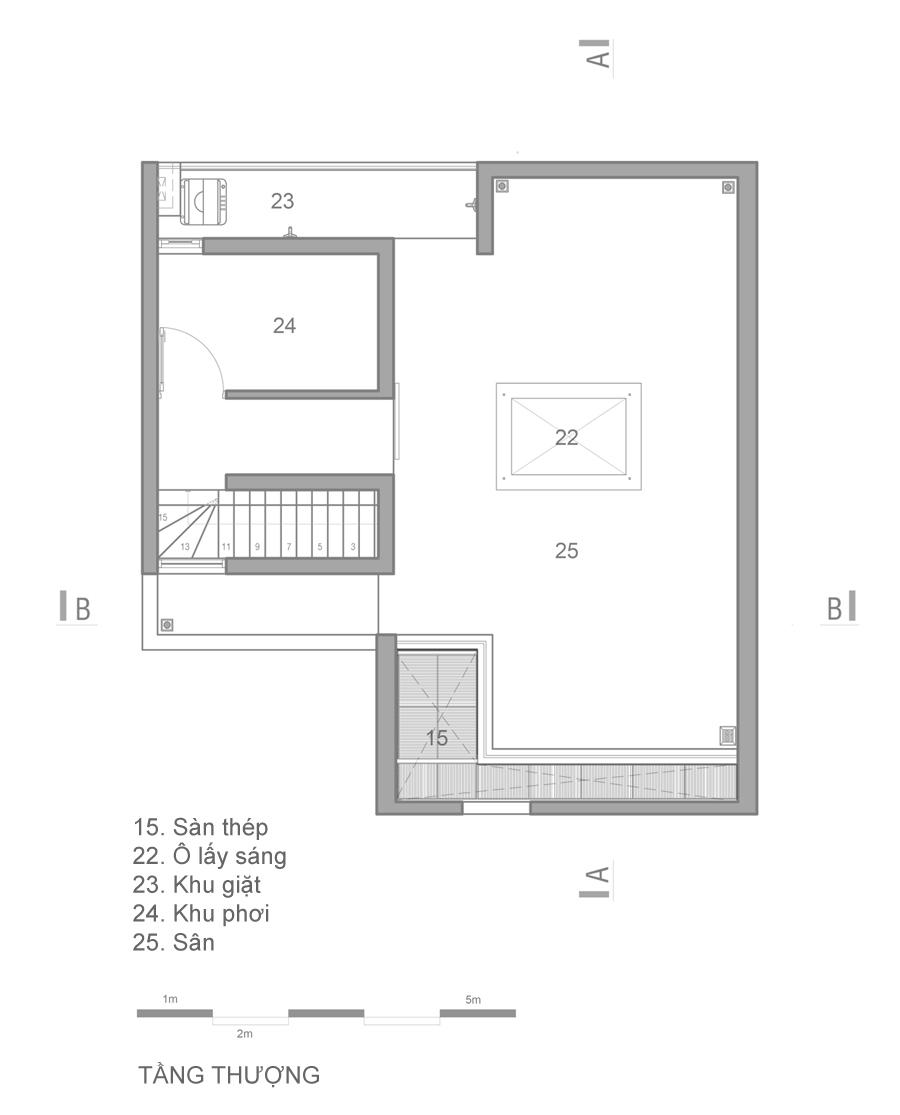 mat bang 4 B 680x0 - Mảnh đất méo hoá ngôi nhà sang trọng trong hẻm Sài Gòn