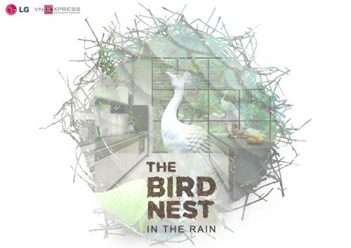 bep 1 1401 1474333475 Thiết kế tạo bức tranh gian bếp tổ chim gần gũi thiên nhiên