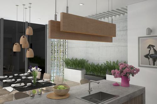 bep 1 6659 1474685185 Thiết kế không gian nội thất phòng bếp mở ngập tràn ánh sáng