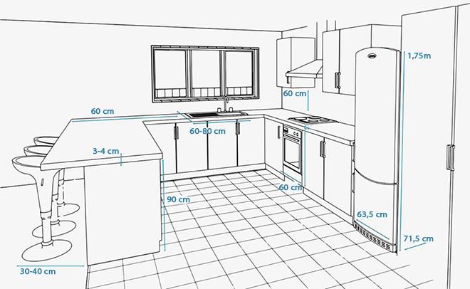 Cách bố trí tủ bếp để bạn dễ xoay xở khi nấu ăn