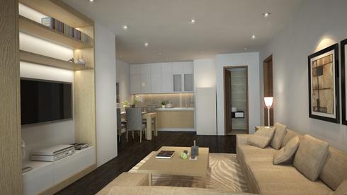 Gợi ý sửa căn hộ 86 m2 phong cách hiện đại với 300 triệu đồng