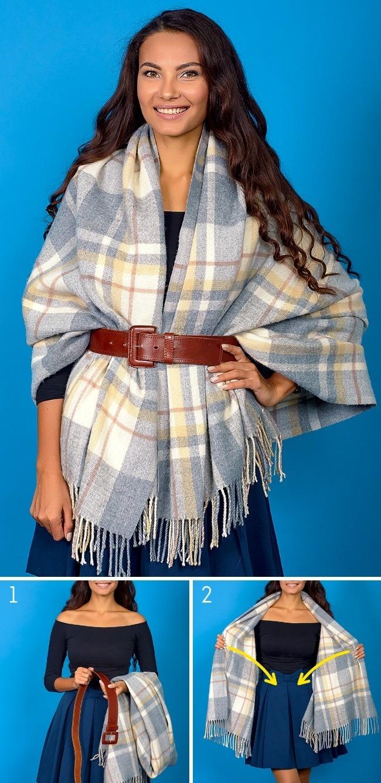 Một chiếc khăn với 8 cách quàng nghệ thuật