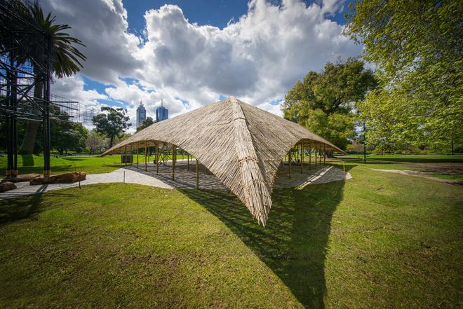 Triệu phú dựng nhà tre giữa công viên trung tâm ở Australia