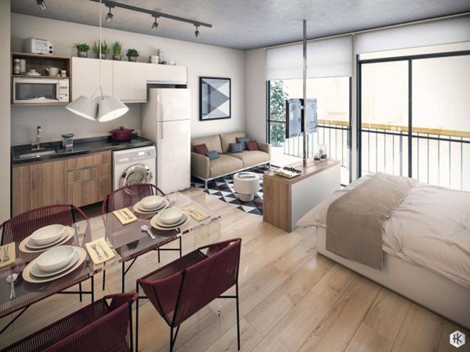 Các căn hộ một phòng đáng mơ ước cho vợ chồng trẻ
