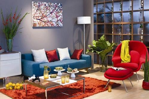 Phòng khách thể hiện diện mạo căn nhà, cũng là góc Tết trong ngôi nhà của bạn.