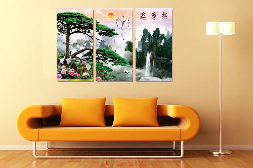 Tranh đượclàm từ những loại vải canvas hoặc PP cao cấp, màu sắcchất lượng, hình ảnhđộc đáo.g