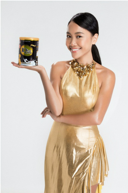 Vì mê chocolate từ bé, nên Đoan Trang thích uống sữa bầu có hương vị này.