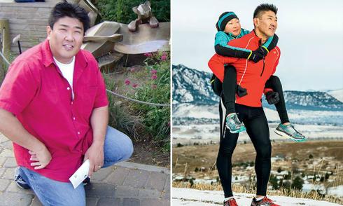 Ông bố nỗ lực giảm 45 kg vì sợ chết sớm không được ở bên con gái