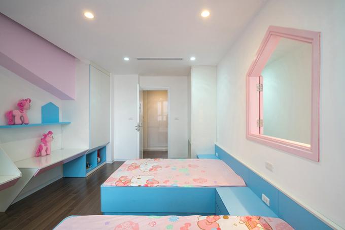Bố mẹ Hà Nội làm phòng đẹp như cổ tích cho hai con gái
