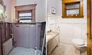 Phòng tắm nhỏ sang trọng hơn hẳn chỉ nhờ đổi màu