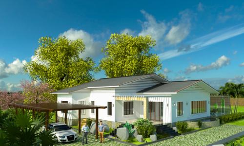Cách xây nhà một tầng vừa mát vừa tiết kiệm