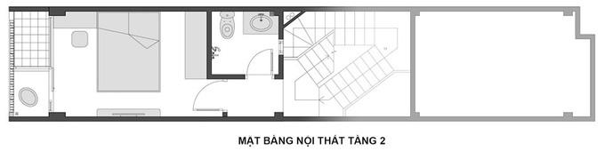 Ngôi nhà Hà Nội thoáng đãng dù bị bao vây bốn phía