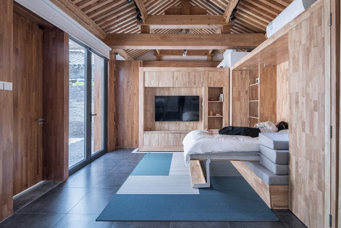 Nhà ngói 40 m2 vẫn thoáng dù có 3 phòng ngủ