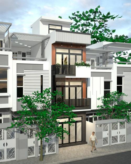 Xây nhà 4 tầng với 960 triệu ở Sài Gòn