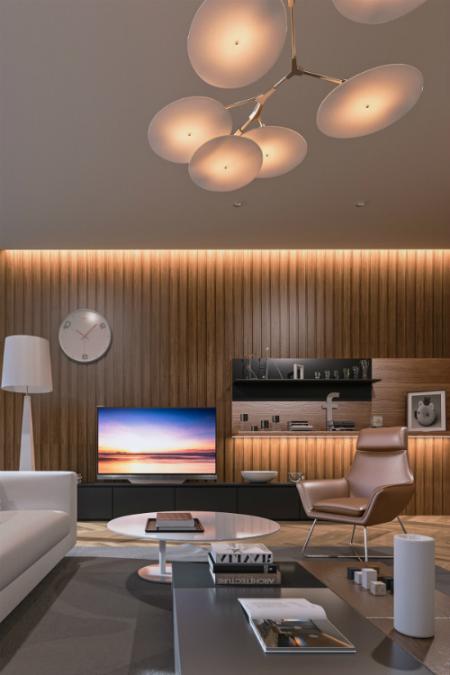 Việc lựa chọn đặt chiếc TV trong phòng khách cũng cần phải cân nhắc kỹ càng. Với công nghệ tiên tiến cùng thiết kế hiện đại, LG OLED E7 trở thành tấm gương phản chiếu thiên nhiên xung quanh. Màu sắc thật như cuộc sống, âm thanh chất lượng như rạp chiếu phim, kéo không gian thiên nhiên vào trong căn phòng.