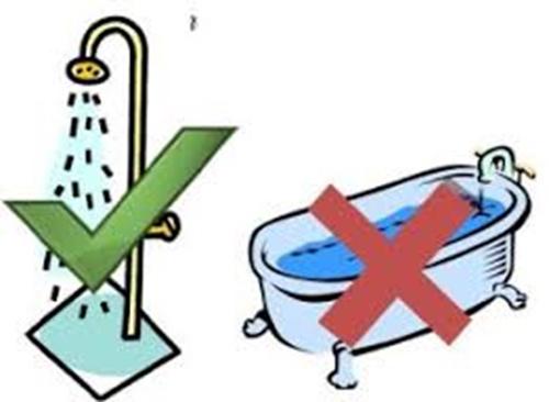 Không nên tắm bồn thường xuyên.
