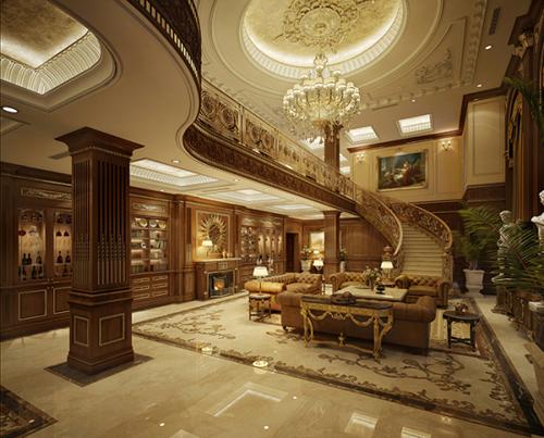 Trong thiết kết này, phòng khách mang phong cách cổ điển lấy tông màu trầm làm chủ đạo, các chi tiết được làm thủ công với sự chế tác tinh xảo, giúp các thành viên trong gia đình thêm ấm cúng, tăng sự gắn kết.
