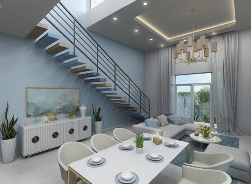 Đối với tính công năng, kiến trúc sư thiết phòng khách mở nối liền với bếp tạo sự gắn kết. Từ đó hình thành một không gian tích hợp các chức năng sử dụng như tiếp khách, họp mặt các thành viên trong gia đình...