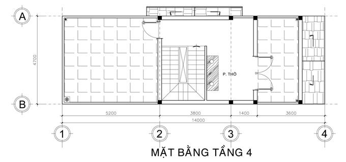 Xây nhà phố Sài Gòn 3,5 tầng có sân vườn với 1,3 tỷ