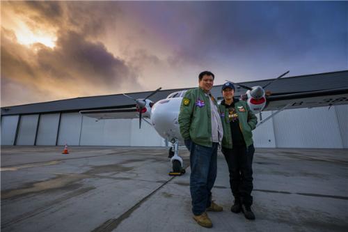 Chiếc máy bay có tuổi đời 32 năm Harbin Y12 đã giúp cặp vợ chồng thực hiện hành trình bay dài 80.000 km.