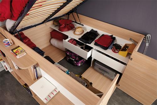 Kho để đồ vạn năng dưới gầm chiếc giường nhỏ - ảnh 2