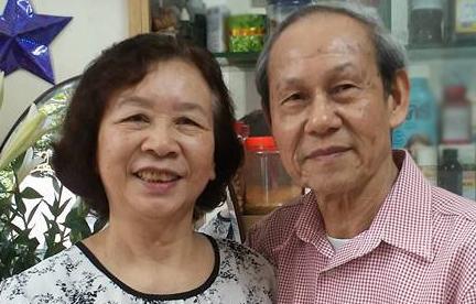 Ông bà ngoại của Hương Giang.