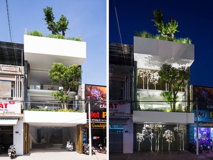 Nhà phố giống như ốc đảo xanh ở Nha Trang
