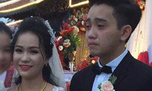 Chú rể Cà Mau khóc nức nở vì thương bố mẹ vợ phải xa con gái