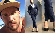 Chàng trai râu quai nón đi giày cao gót đến công sở