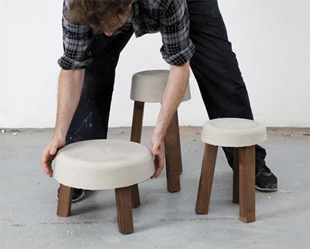 Làm ghế đẹp như ngoài hàng từ khúc gỗ thừa và xi măng
