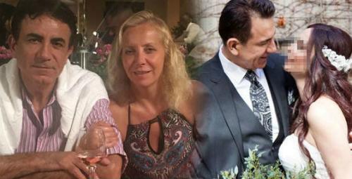 Ông Hayri Uğur cùng vợ cũ (bên trái) và bên vợ mới cưới (hìnhphải). Ảnh:Ahval.